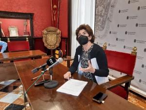 Elisa Cabrerizo en rueda de prensa.