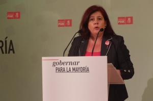 Elvira Ramón, en una rueda de prensa.