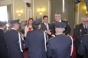 Ruz y Moreno, con el alcalde en los actos del Día de la Policía Local.