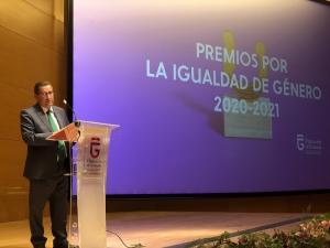 Entrena, en los Premios por la Igualdad de Género 2021.
