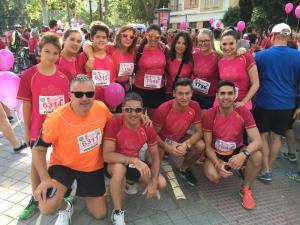 Equipo de Ciudadanos que ha participado en la Carrera de la Mujer.