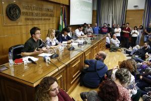 Errejón ha participado una mesa junto a Teresa Rodríguez, Antonio Maíllo, Alberto Garzón y Carmen Lizárraga.
