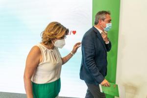 Susana Díaz y Juan Espadas en una imagen de archivo.