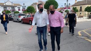 Juan Espadas y Nazario Montes, en Otura este viernes.
