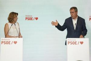 Susana Díaz y Juan Espadas, este lunes.