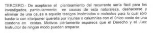 Parte del escrito de la Fiscalía.