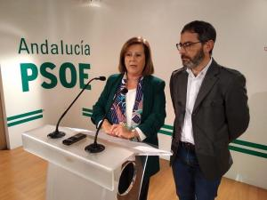 Sánchez Rubio junto a Miguel Ángel Fernández Madrid, en una comparecencia en defensa de la EASP.