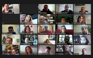 Reunión telemática de representantes del PSOE ante el inicio del curso.