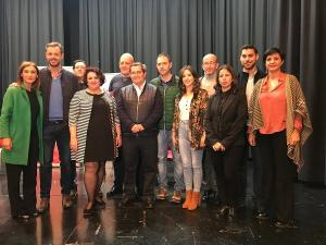 La candidatura del PSOE, en Moclín.
