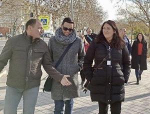 De izqda. a dcha., José Rodríguez, Manu Ríos y Alejandra Durán.