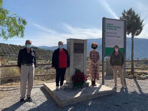 Homenaje rendido a las víctimas del franquismo en El Carrizal.