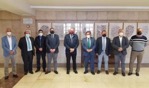 Reunión con Diputación y alcaldes de la Vega.