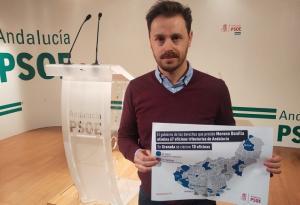 Juan José Martín muestra un mapa con los cierres.