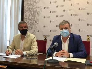 César Díaz y Francisco Fuentes, este miércoles en rueda de prensa.
