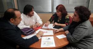 Reunión con las representantes del PSOE.