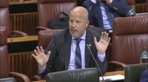 Javier Imbroda, en una imagen en el Parlamento.