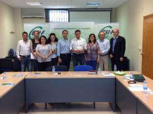 Representantes de Ciudadanos y CSIF Granada.