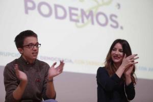 Ana Terrón con Íñigo Errejón en un acto de la campaña de diciembre.