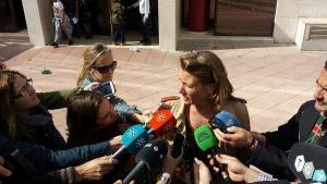 Isabel Nieto en su anterior declaración en el Juzgado.