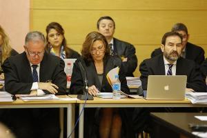 Isabel Nieto en una imagen de la primera sesión del juicio.