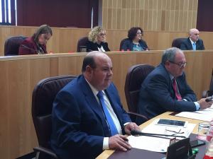 José Robles en un pleno de la Diputación.