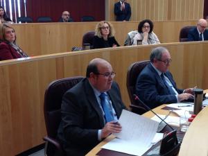 José Robles en el pleno de la Diputación.