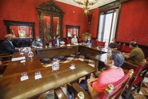 Reunión de la Junta de Gobierno Local presidida por el alcalde, Francisco Cuenca.
