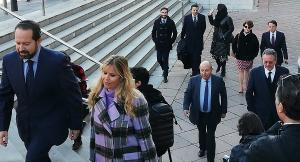 Llegada de parte de los acusados a la primera sesión del juicio el pasado 3 de febrero.