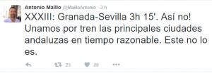 Uno de los tuits del líder de IU Andalucía.