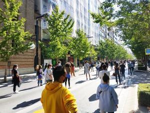 Manifestación de universitarios el pasado viernes.