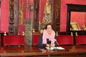 María Francés, en rueda de prensa.