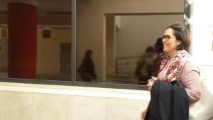 María Francés a la salida del Juzgado.