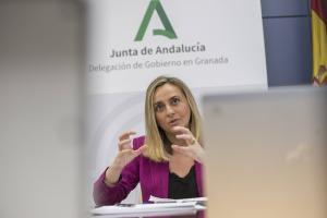 Marifrán Carazo en la Delegación de la Junta en Granada.