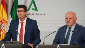 Juan Marín, en una foto de archivo con Jesús Aguirre.