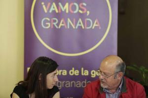 Luis de Haro-Rossi con Marta Gutiérrez, la líder de Vamos Granada.