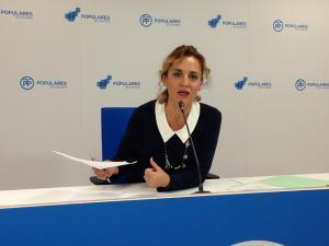 Marta Nievas, en rueda de prensa.