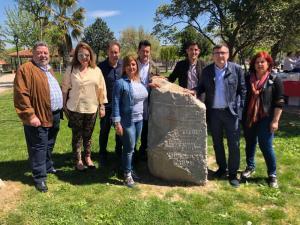 Los socialistas, en el Parque dedicado a Virgilio Castilla, presidente de la Diputación fusilado en 1936.