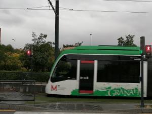 El Metroppolitano, a su llegada a la parada del Palacio de Deportes.
