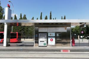 Parada del Metro de Granada.