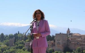 La ministra, María Jesús Montero, este viernes en Granada.