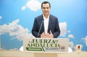 El presidente del PP-A y de la Junta de Andalucía, Juan Manuel Moreno.