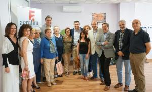 Juan Manuel Moreno, en su visita a la sede de Agrafim.