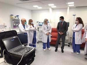 Moreno, en el Hospital Regional de Málaga este lunes.