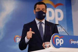 Juan Manuel Moreno, la pasada semana, en un acto del PP en Granada.