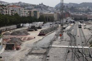 Obras en la estación de tren para adecuarla a la llegada del AVE.