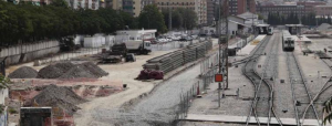Obras en la estación del AVE.