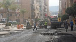 Obras en la calle Ancha de Motril denunciadas por IU.