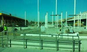 Obras en la estación.
