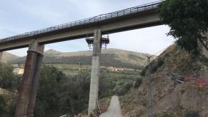 Obras en Puente Quebrada.