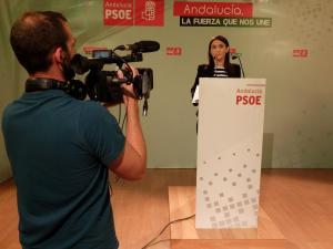 Olga Manzano, en rueda de prensa.